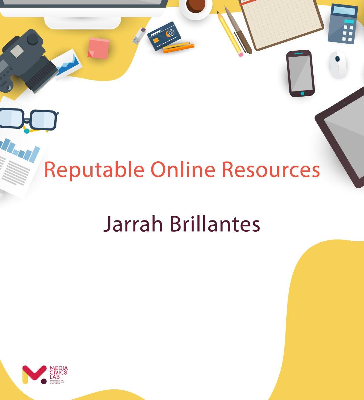 Reputable Online Resources – Jarrah Brillantes